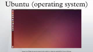 Ubuntu (operating system)