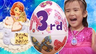 Asahi's 3rd Birthday ♪あさひ3歳バースデー SOFIA Surprise Egg thumbnail