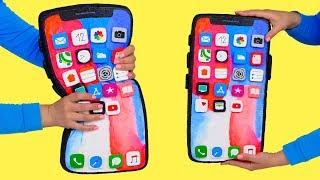 ОГРОМНЫЙ IPHONE X СКВИШИ АНТИСТРЕСС | DIY IPHONE X SQUISHY