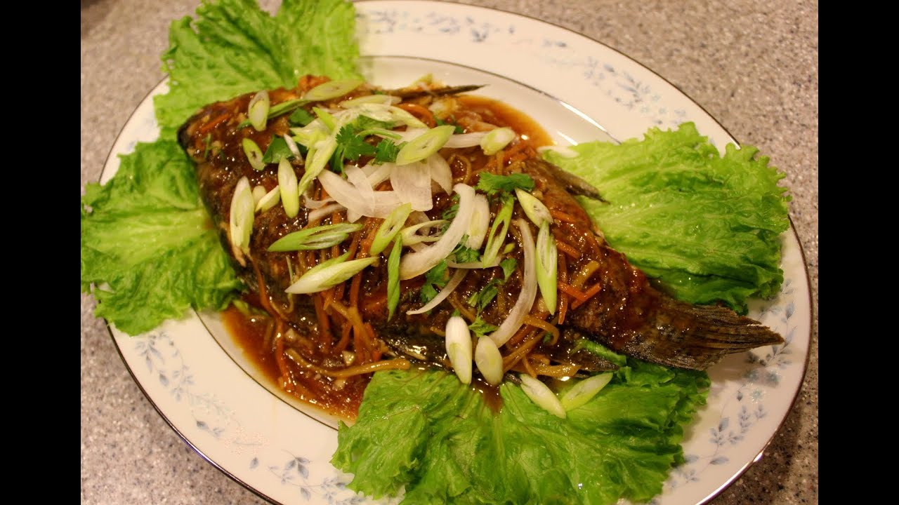Pan fried tilapia with ginger and soy sauce glaze youtube for Pan fish recipe