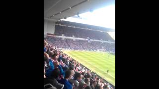 Derrys walls. Rangers vs Celtic