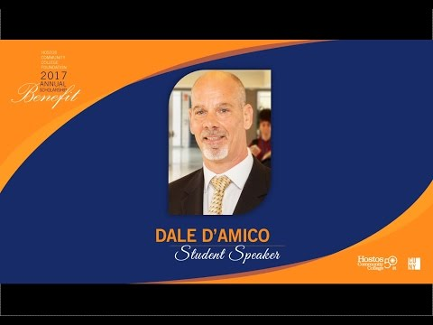 Hostos 2017 Annual Scholarship Benefit Student Speaker Dale D'Amico