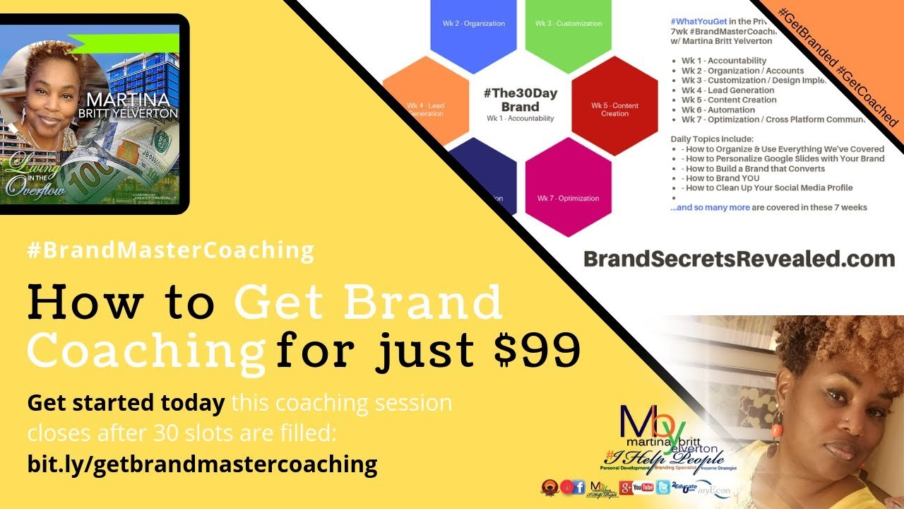 Live Walkthru of the Private 7wk #BrandMaster Coaching Group w/ Martina