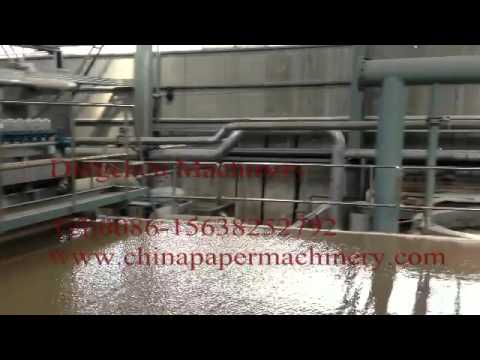 Headbox and forming wire working video for kraft paper making process