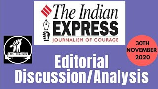 30th November 2020 | Gargi Classes Indian Express Editorial Analysis/Discussion