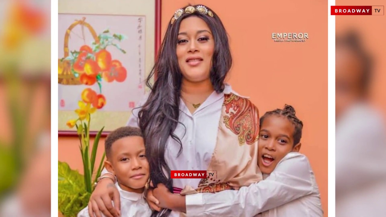 Download Adunni Ade's Son Tears Down As He Prays For His Mum At Her Birthday Dinner.