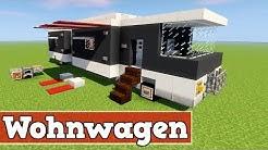 Wie baut man einen modernen Wohnwagen in Minecraft | Minecraft Wohnwagen bauen deutsch