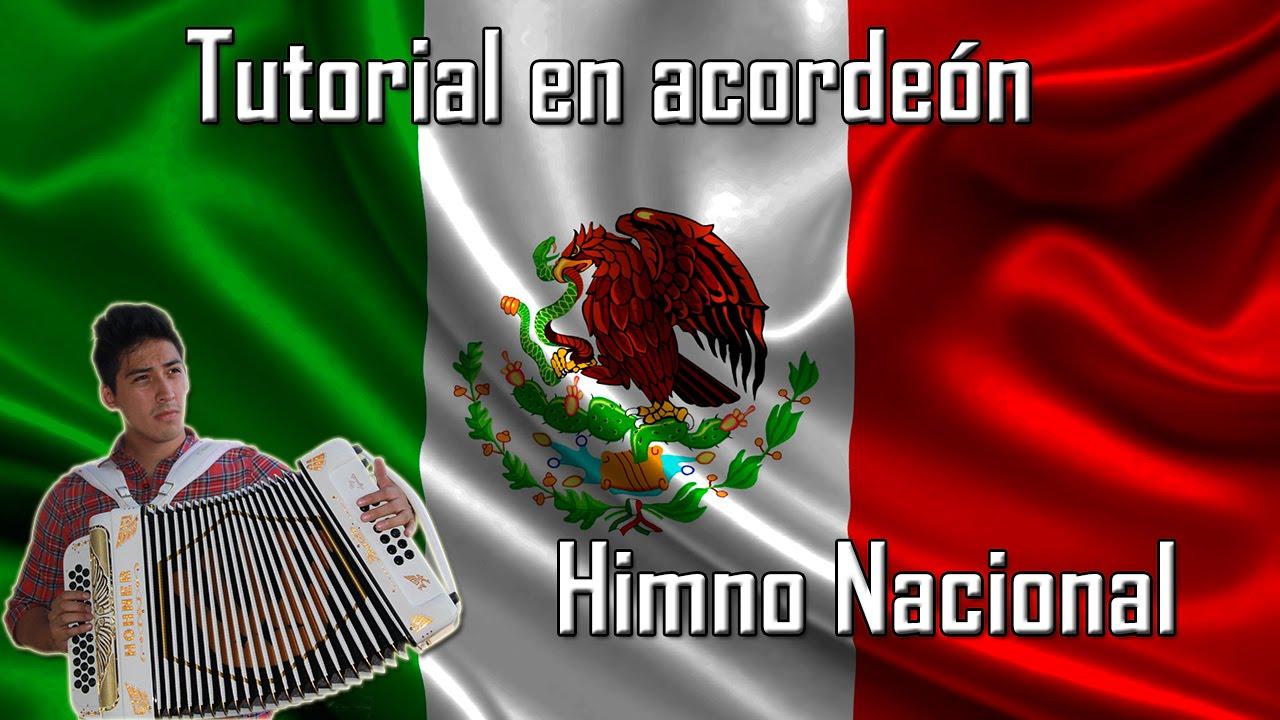 Himno Nacional Mexicano En Acordeón Tutorial De Acordeón Youtube