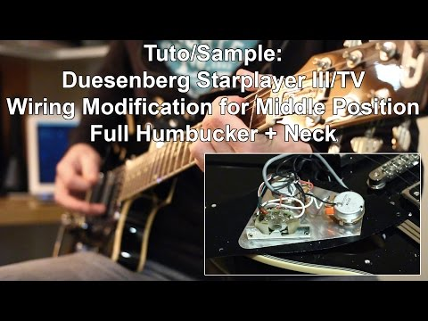 tuto sample duesenberg wiring modification for middle positiontuto sample duesenberg wiring modification for middle position youtube