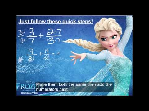 Frozen Parody Do you wanna add some fractions? Math