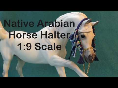 Native Arabian Horse Halter 1:9 scale
