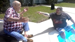 POOLSIDE WITH ANGRY GRANDPA!!