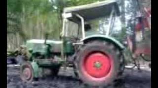 Wheelie mit nem Güldner... Forstarbeit HEUTE :-)