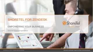 ShoreTel for Zendesk Demo