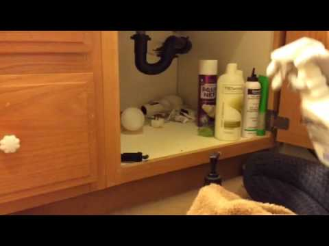 ASMR Cleaning Organizing Bathroom Cupboard No Talking No Tapping