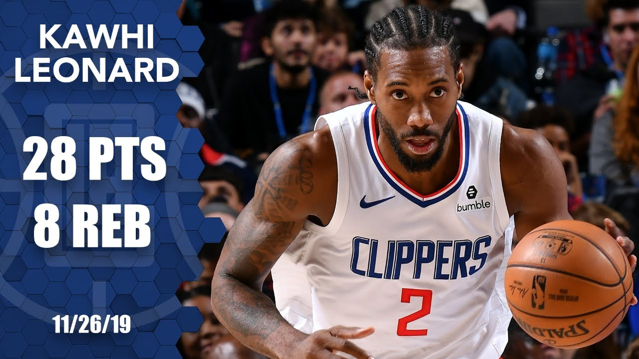 Kawhi Leonard Drops 28 Points In Clippers Vs Mavericks Matchup 2019 20 Nba Highlights