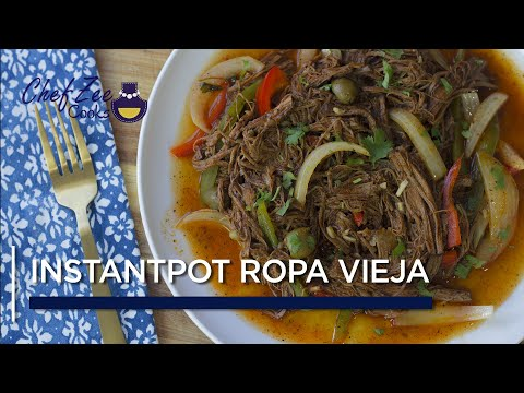 Instant Pot Ropa Vieja | Instant Pot Recipes | Cuban Recipes | Chef Zee Cooks