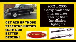 How To Replace The Intermediate Steering Shaft On A Chevrolet Avalanche