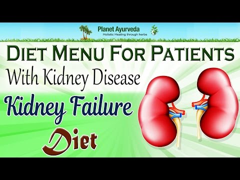 Diet menu for patients with kidney disease | Kidney failure diet