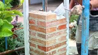 Cómo construir un pilar de 30X30 con ladrillo cara vista 3ª parte vídeo nº 111