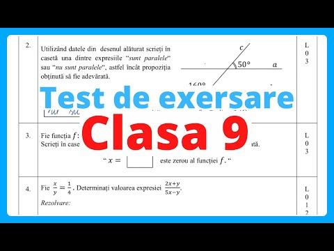Test Pentru Exersare 2020, Clasa 9 | Examen.md