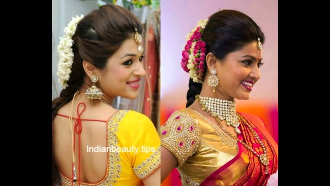 Hairstyles For Traditional Sarees Youtube