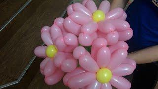 Как сделать цветок из длинного шарика , цветок из шара шдм/beautiful flower from bulb