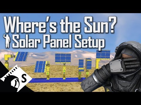 Space Engineers Tutorial: Solar Panel Tests with Scripts (tips, testing, tutorials for survival)