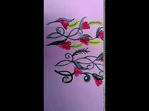 Free Hand Fabric Painting Sketch