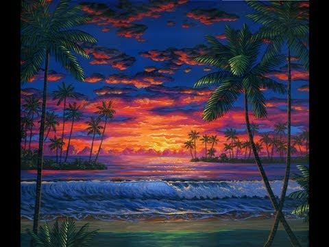 Bagaimana Untuk Cat Pantai Pada Waktu Senja Menggunakan Akrilik Atas