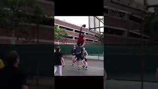길거리농구에 NBA 올스타 센터가 나타난다면?