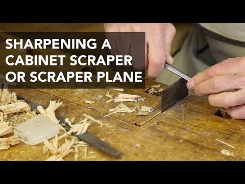 Sharpening Scraper Planes and Cabinet Scrapers