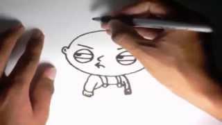 Como dibujar a Stewie Griffin Padre de Familia l How to draw Stewie Griffin Family Guy