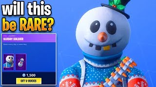 new RARE christmas skins?? Fortnite ITEM SHOP (December 13) Slushy Soldier skin in item shop!!