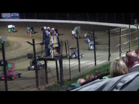 Landon Jesina, Jesina Racing, Jr Sprint Feature at Sweet Springs Motorsports Comples May 13, 2017