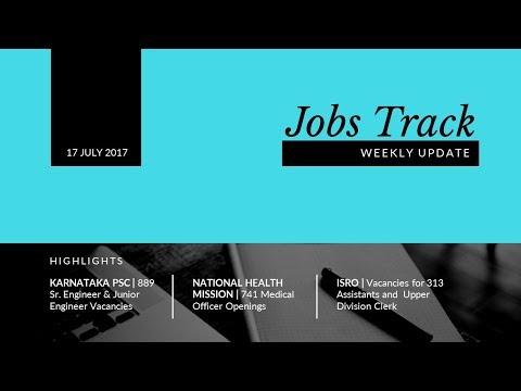 Jobs Track | 17 July 2017 | Weekly Job Alert