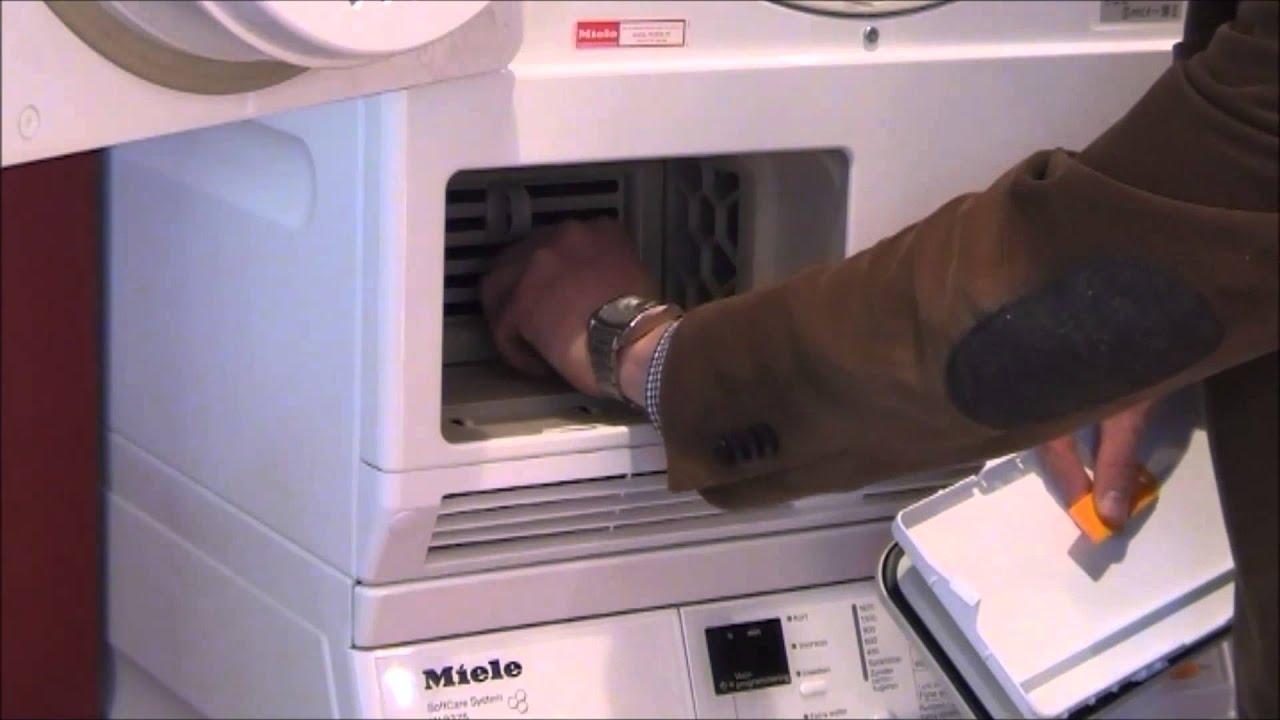 Condensor reinigen warmtepompdroger