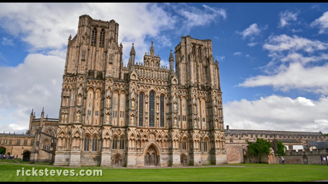 Wells England Medieval Center And Cathedral