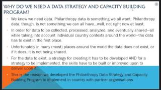 Developing a Data Strategy for Philanthropy & Building the Capacity to Implement it