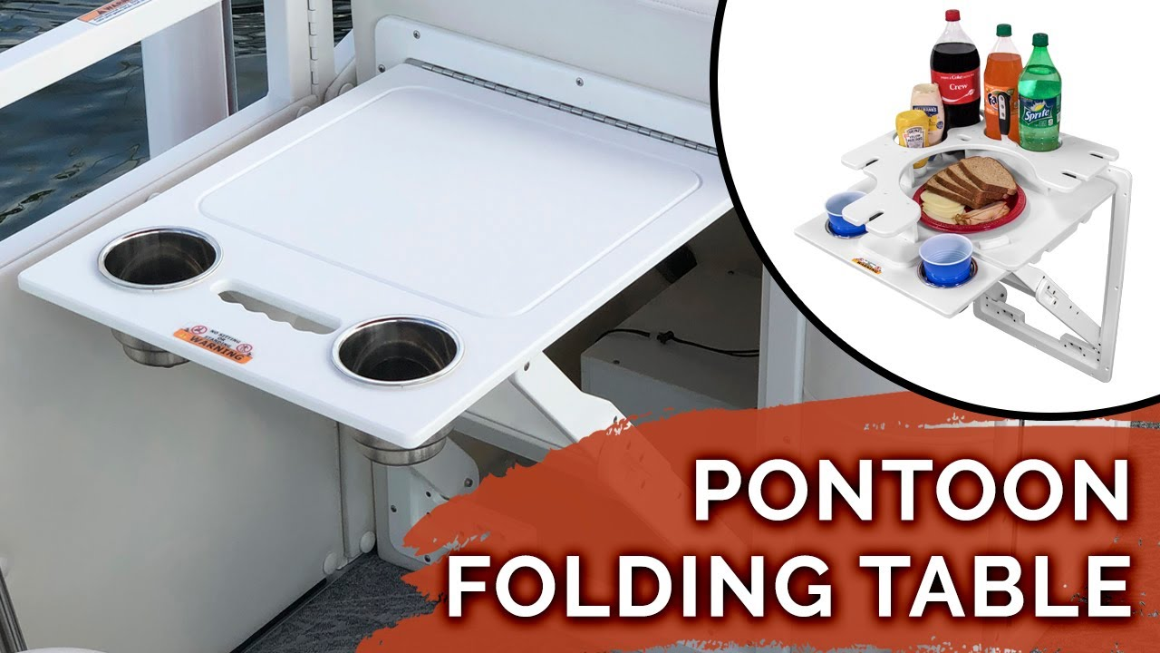 Pontoon Folding Table with Tray - Upgrade Your Pontoon Today!