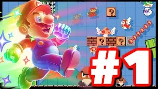 BEST MARIO GAME EVER! - Super Mario Maker - Super Mario Maker Wii U Gameplay Walkthrough Part 1