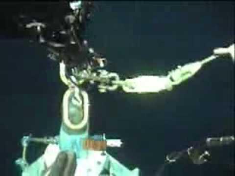 Big whale came very close under a ROV operation!
