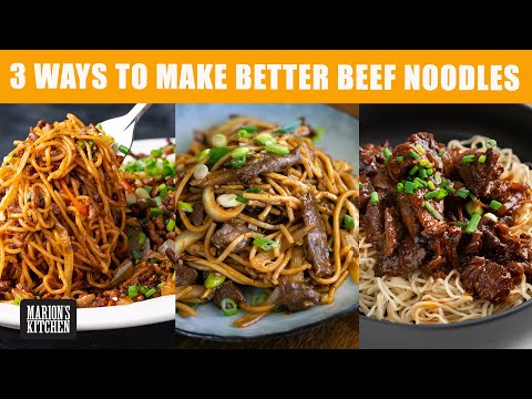3 Ways To Make BETTER Beef Noodles 💯| #CookWithMe | Marion's Kitchen