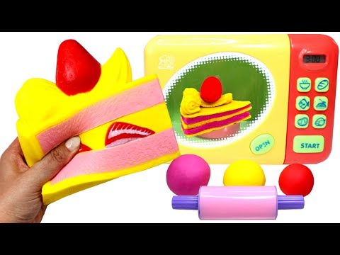 Thumbnail: Squishy Cake Toy Microwave How to Make Play Doh Strawberry Cake & Kinetic Sand Ice Cream for Kids
