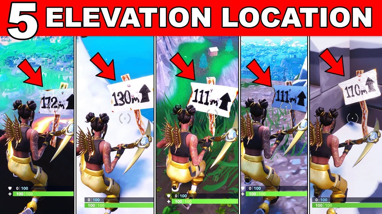 visit the 5 highest elevations on the island location fortnite season 8 week 6 challenges guide - five highest places on fortnite map