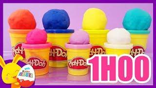 COULEURS - Pate à modeler Play Doh pour enfants - Compilation - Titounis Touni Toys