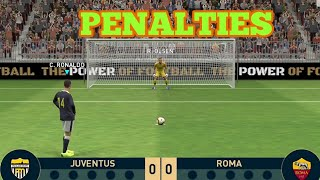 PES 2019 Mobile - Penalty kickouts | Juventus vs Roma