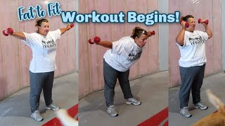 Workout Routine Begins! Fat to Fit Weight Loss Journey!