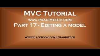 Part 17  Editing a model in mvc