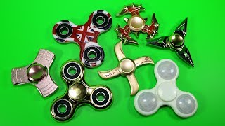 Super Cool Fidget Spinners - Metal Tri-Spinner, UFO,  Naruto and More
